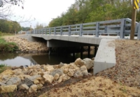 CTH H Bridge Over Bass Creek in Rock County by OES