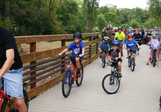 Lower Yahara River Trail in Dane County by OES